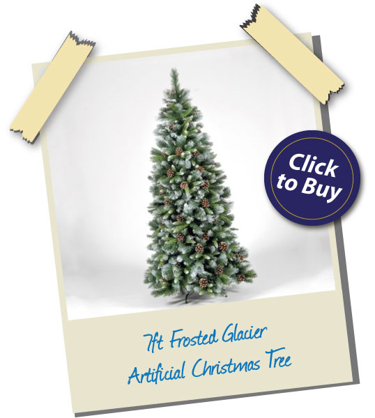 7ft Frosted Glacier Artificial Christmas Tree