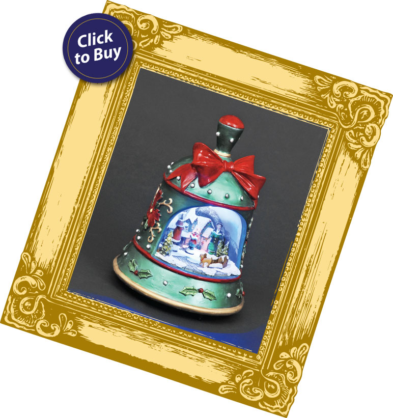 Click to buy the 'Moving Carol Singers Illuminated & Animated Bell'