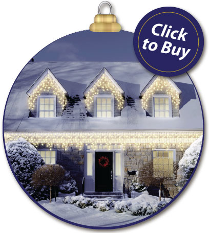 700 Warm White LED Snowing Icicle Lights with Memory Function