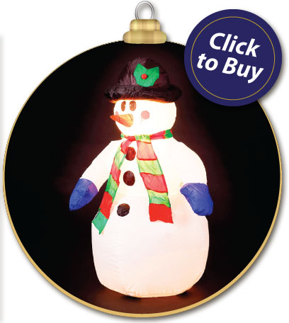 4ft Inflatable Snowman