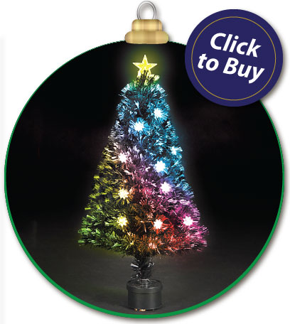 90cm/3ft Fibre Optic Multicoloured Clematis Christmas Tree