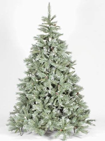 6ft Frosted Emerald Fir Blue/Green Artificial Christmas Tree