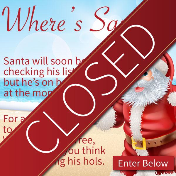 Wheres Santa Closed