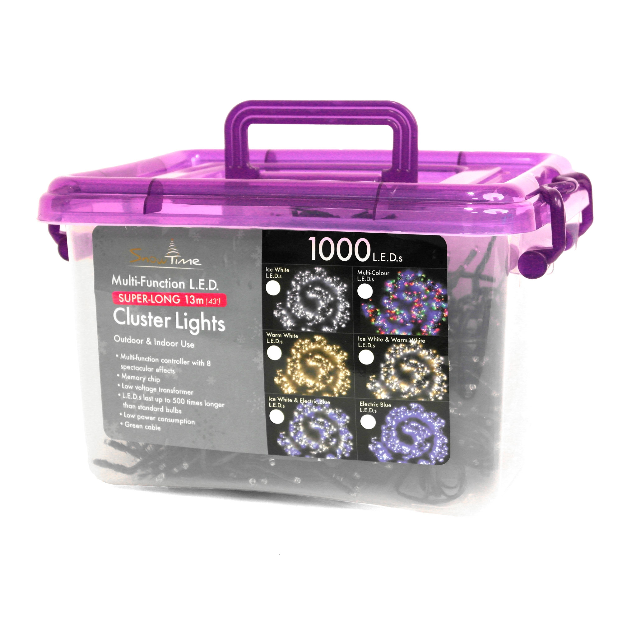 Click to view product details and reviews for 1000 Ice White Cluster Leds With Multi Function Controller.