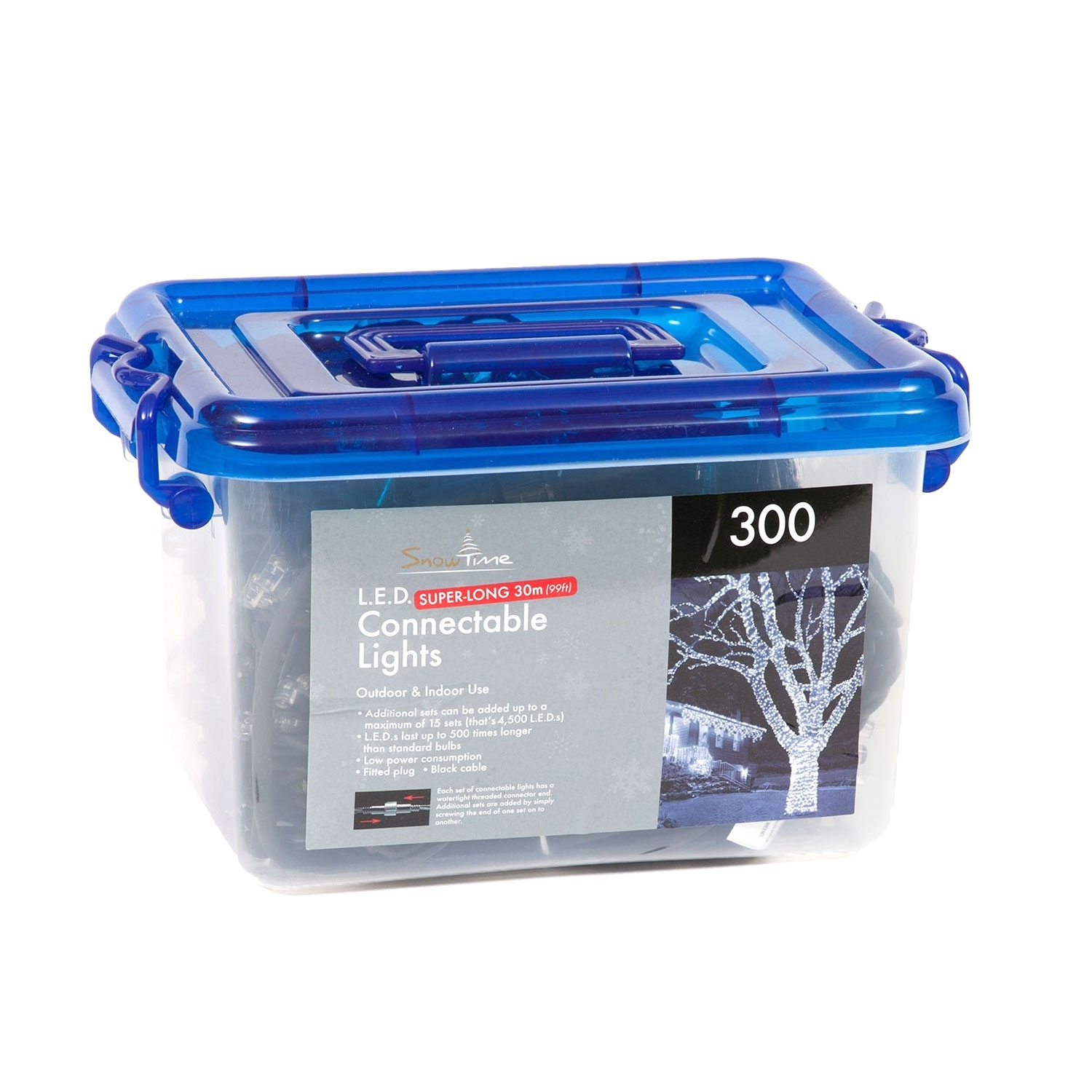 Click to view product details and reviews for Tub Of 300 Connectable Led Christmas Lights.