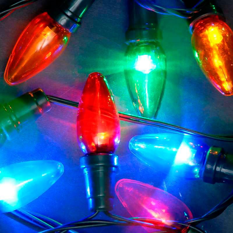 40 Multicoloured  LED C6 Chaser Lights
