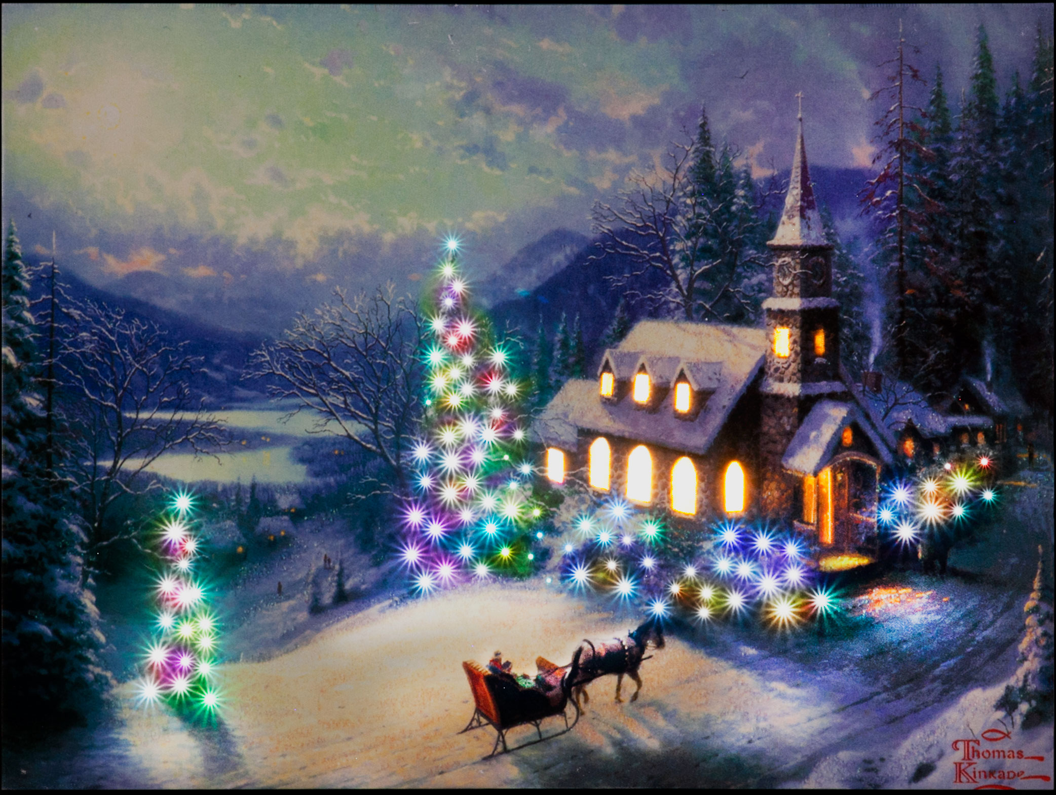 Thomas Kinkade ... Thomas Kinkade Disney Paintings Frozen