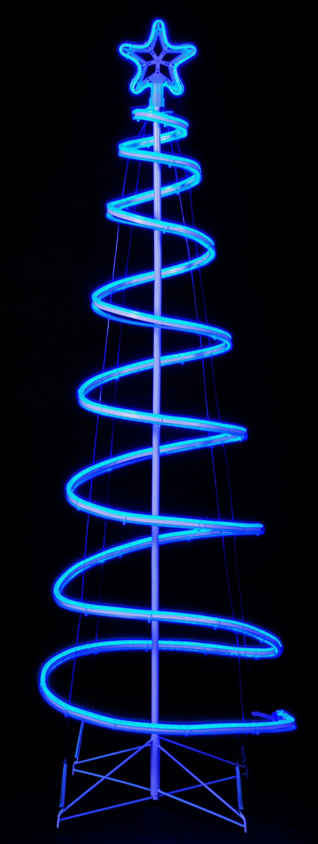 Sale On 6ft Neon Flex Spiral Tree With Static Blue Leds