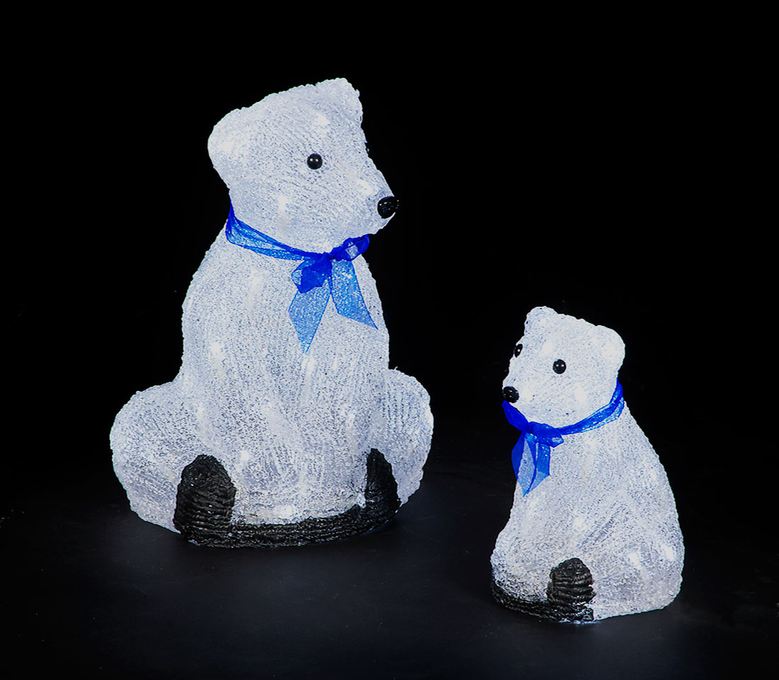 Click to view product details and reviews for Set Of 2 Of Bears With Cool White Leds.