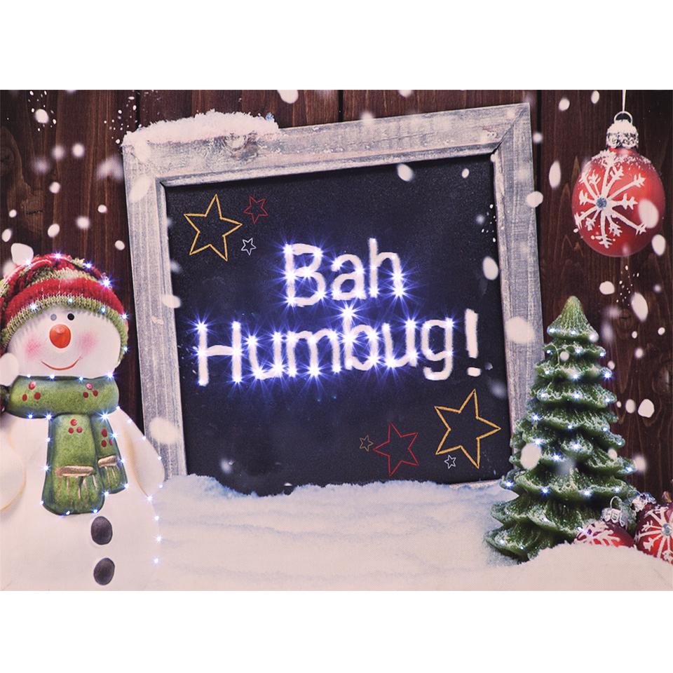 Christmas Trees and Lights Bah Humbug! Illuminated Wall Canvas