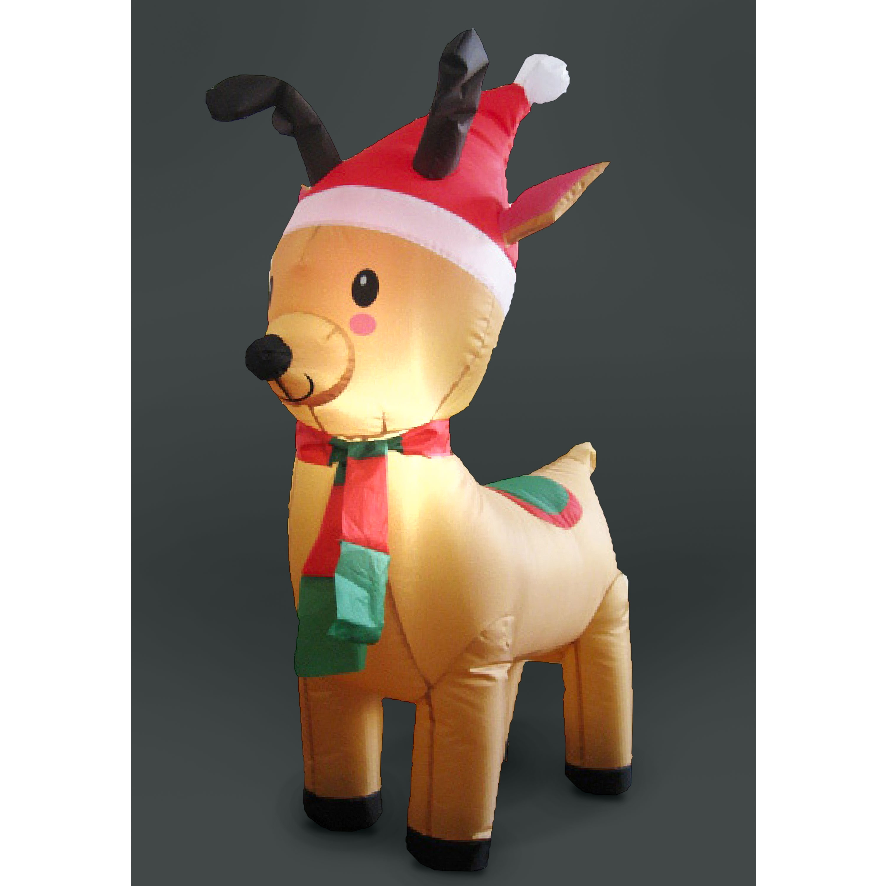 Click to view product details and reviews for 120cm Inflatable Reindeer With 2 Leds.