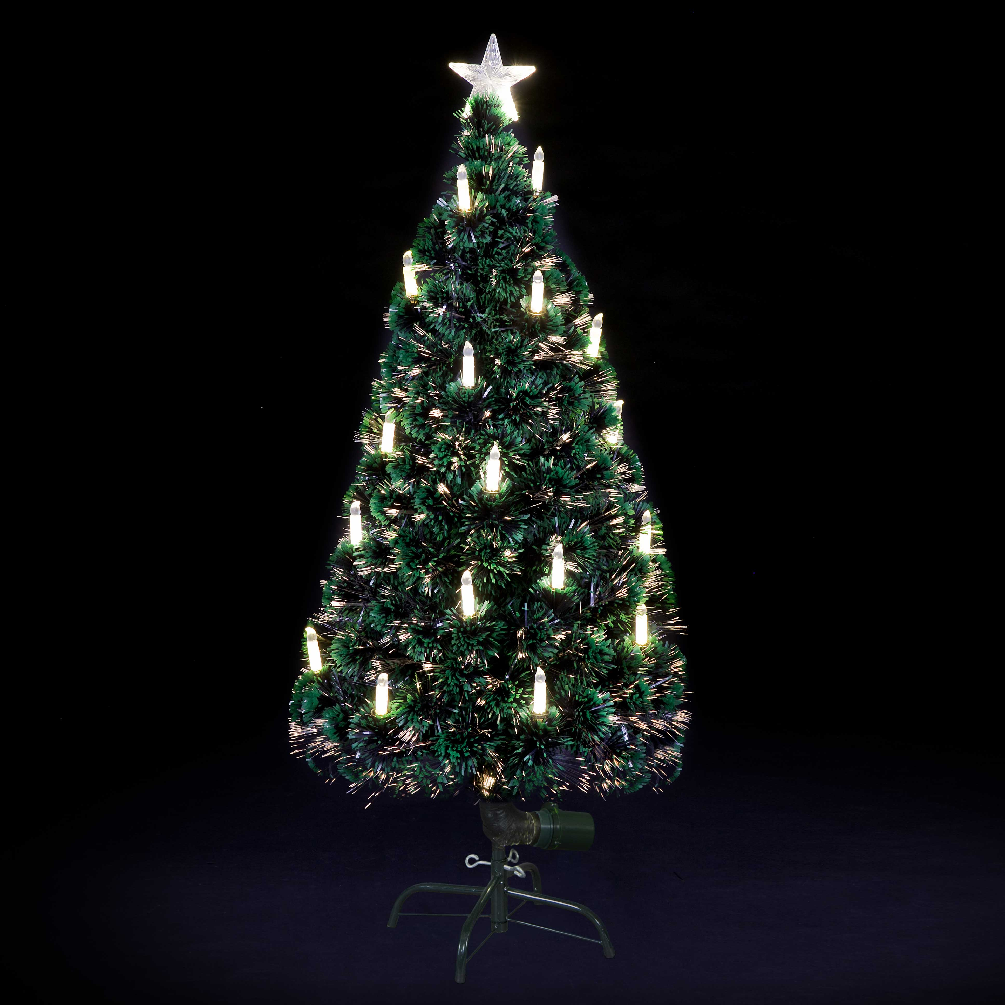 Christmas Trees and Lights Warm White Candle Fibre Optic Christmas Tree