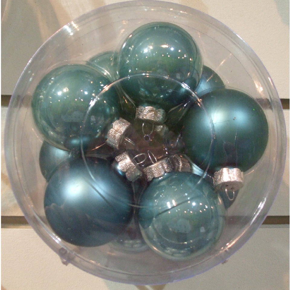 Christmas Trees and Lights Pack of 10 5.7cm Cream Glass Balls with Enamel Finish
