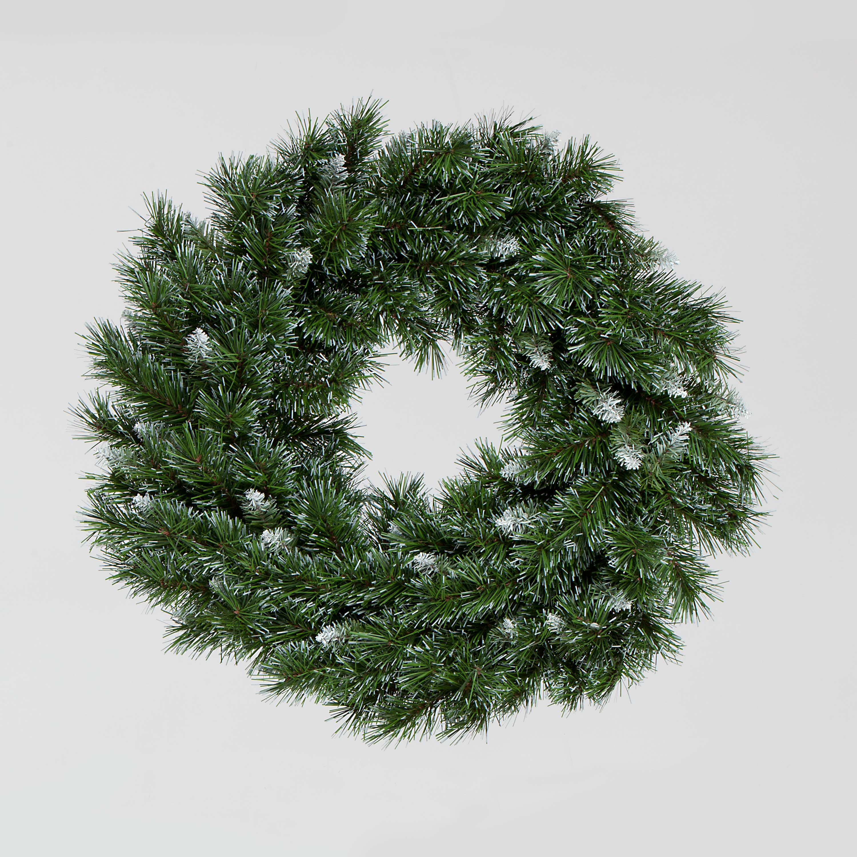 60cm Missouri Wreath with SnowFlecked Tips