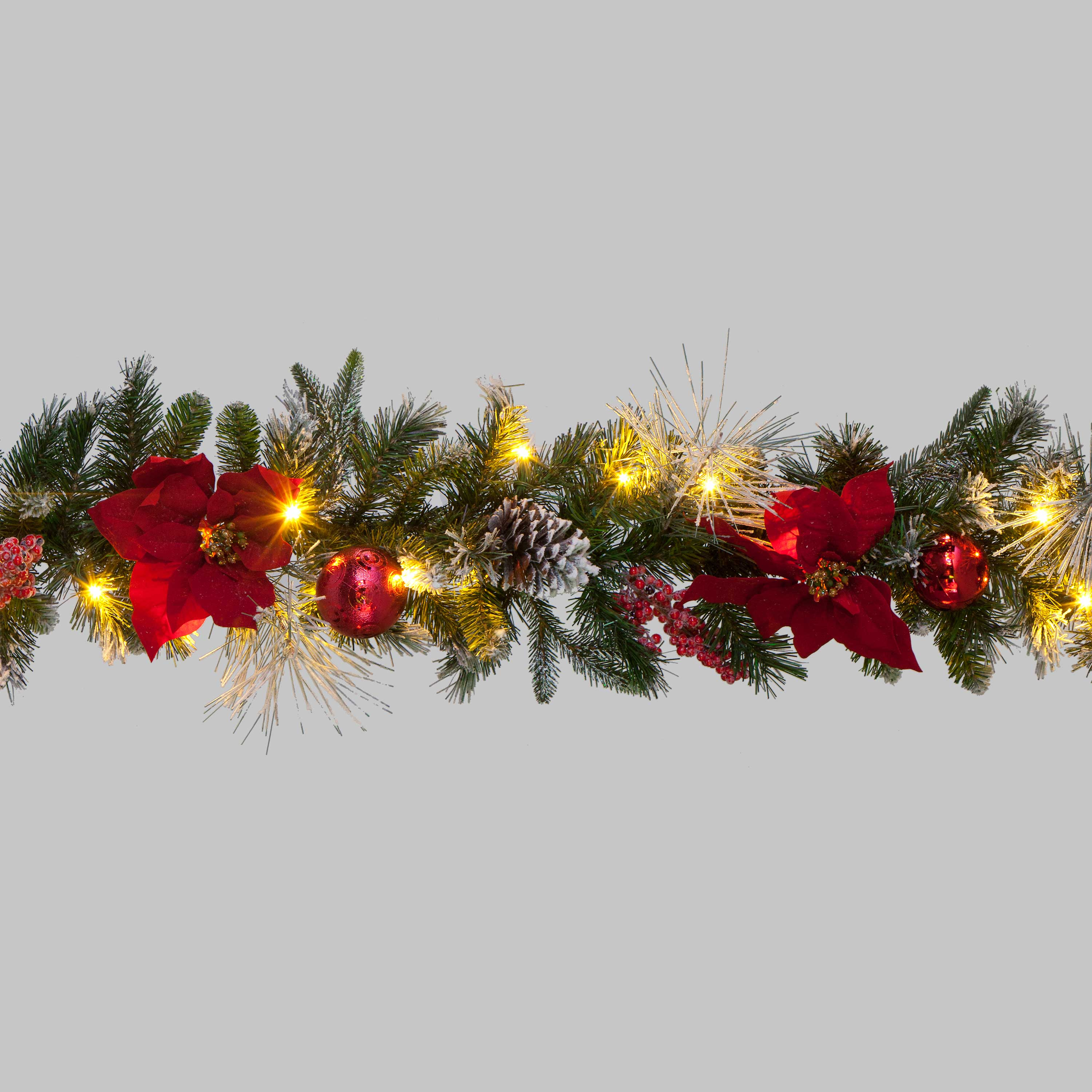 Christmas Trees and Lights 6ft 'Special Moments' Garland