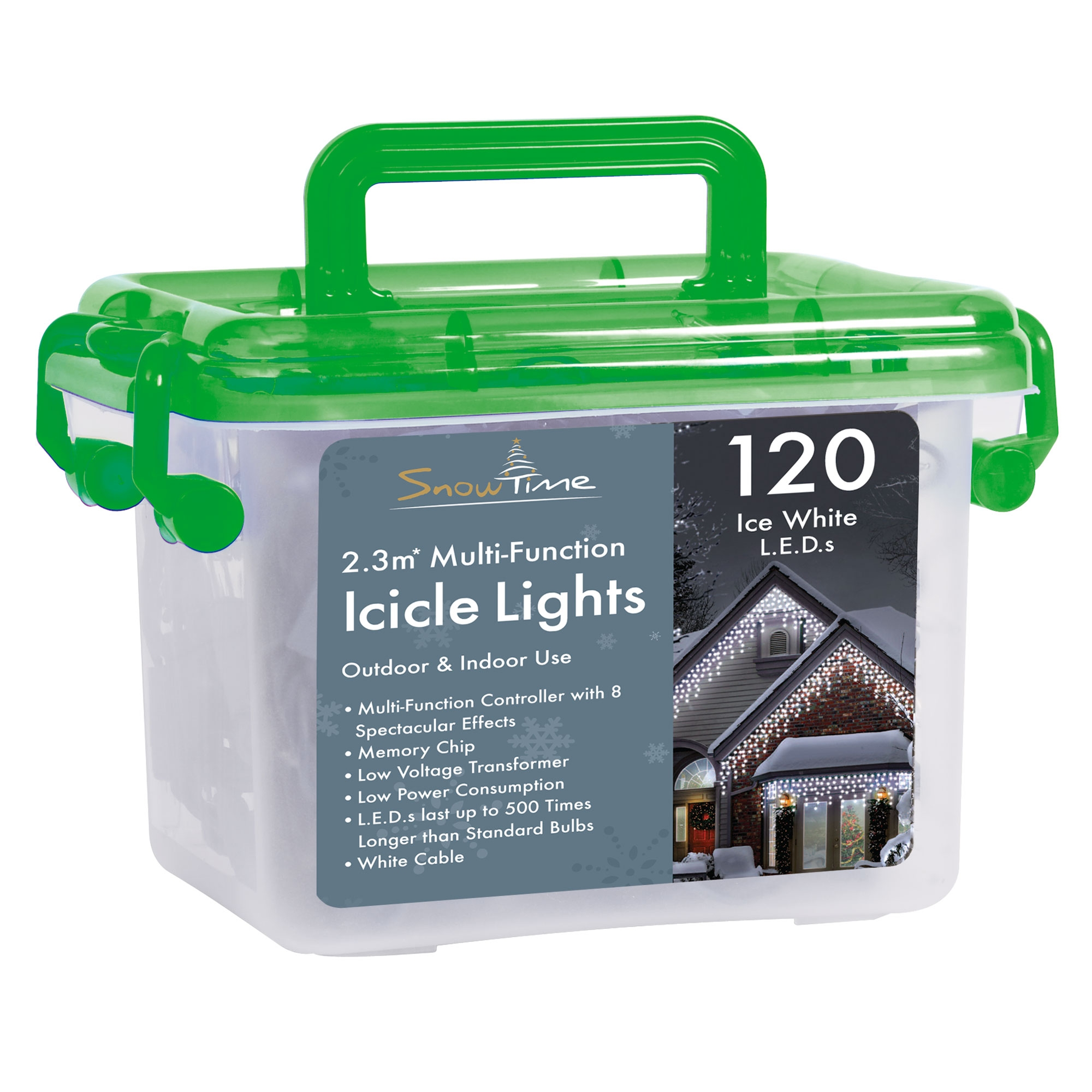 Click to view product details and reviews for 120 Led Multi Function Christmas Icicle Lights.