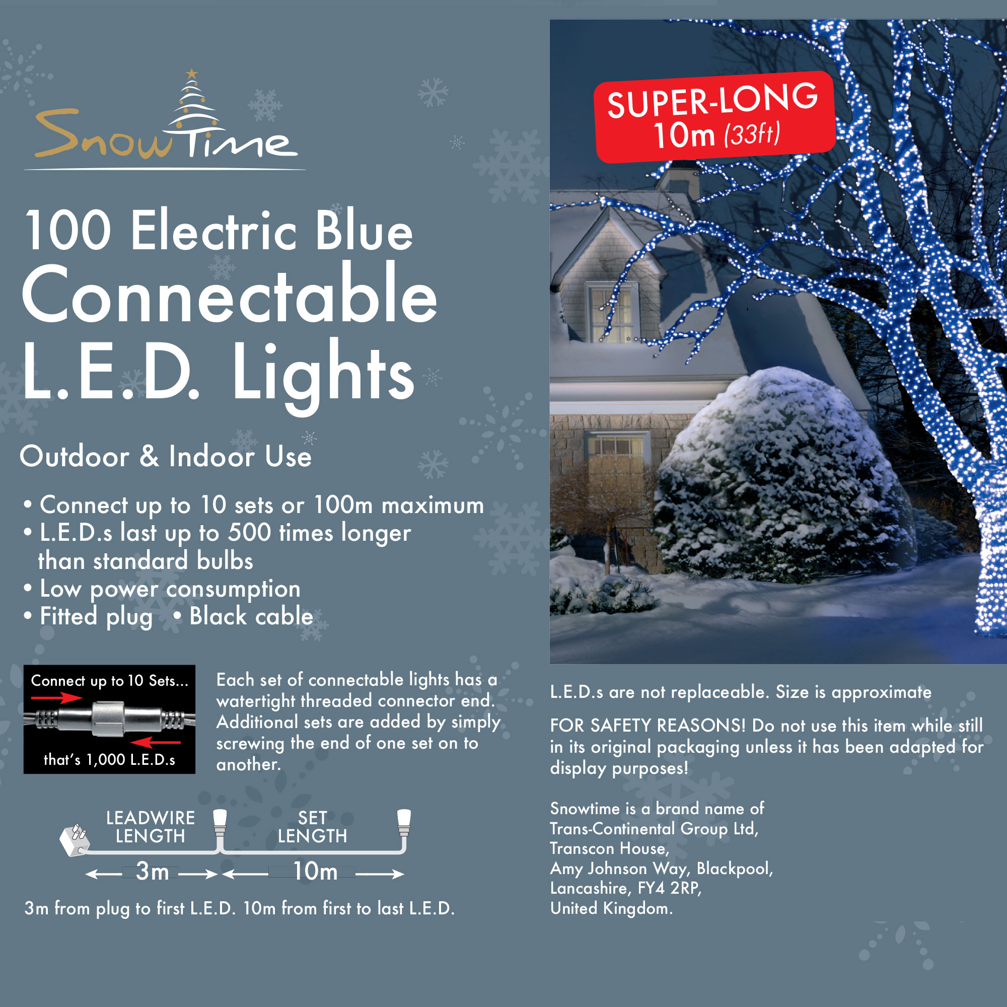 Click to view product details and reviews for 100 Blue Led Connectable Lights.