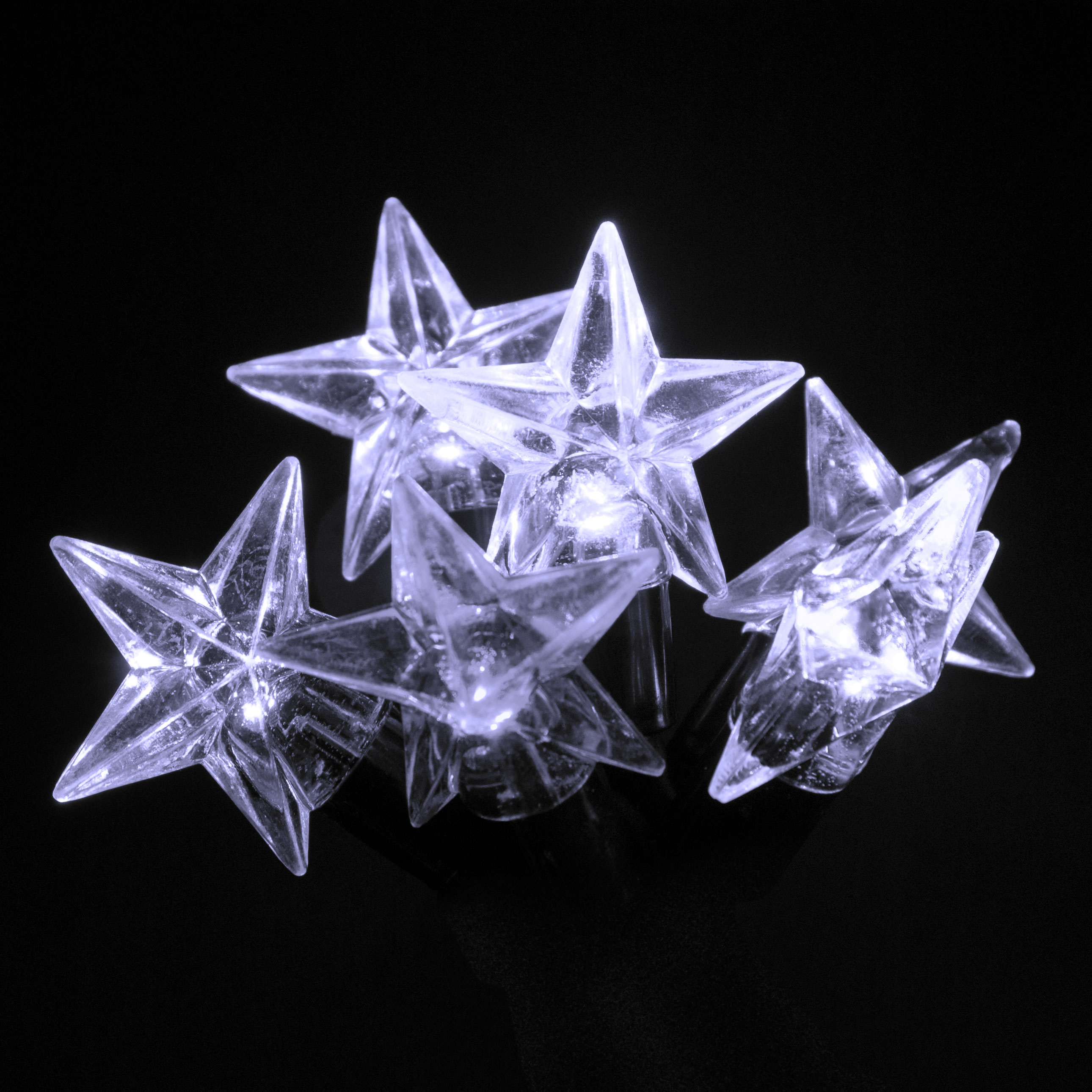 Click to view product details and reviews for 100 Connectable Ice White Led Star Lights On Rubber Cable.