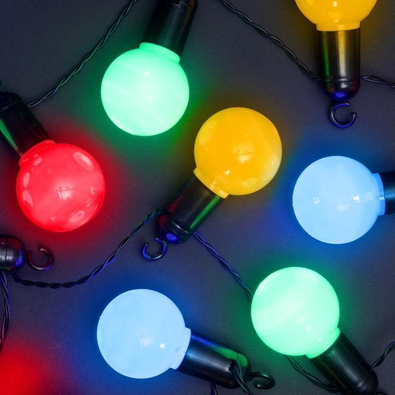 20 x Multi Col LED Party Ball Christmas Lights