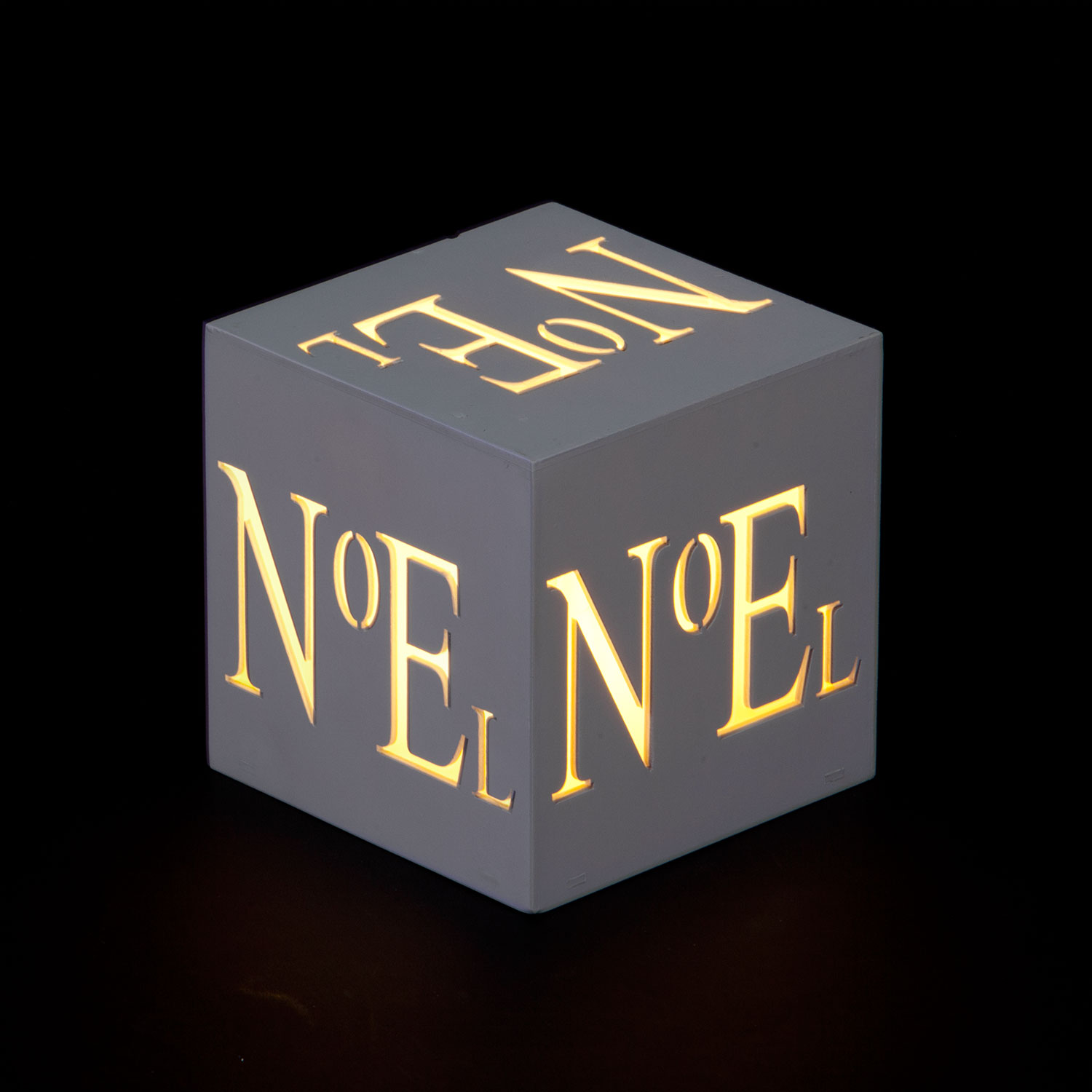 NOEL Cube Battery Operated LED Tea-Light