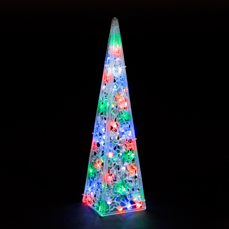 Christmas Trees and Lights 80cm Acrylic Light Tower
