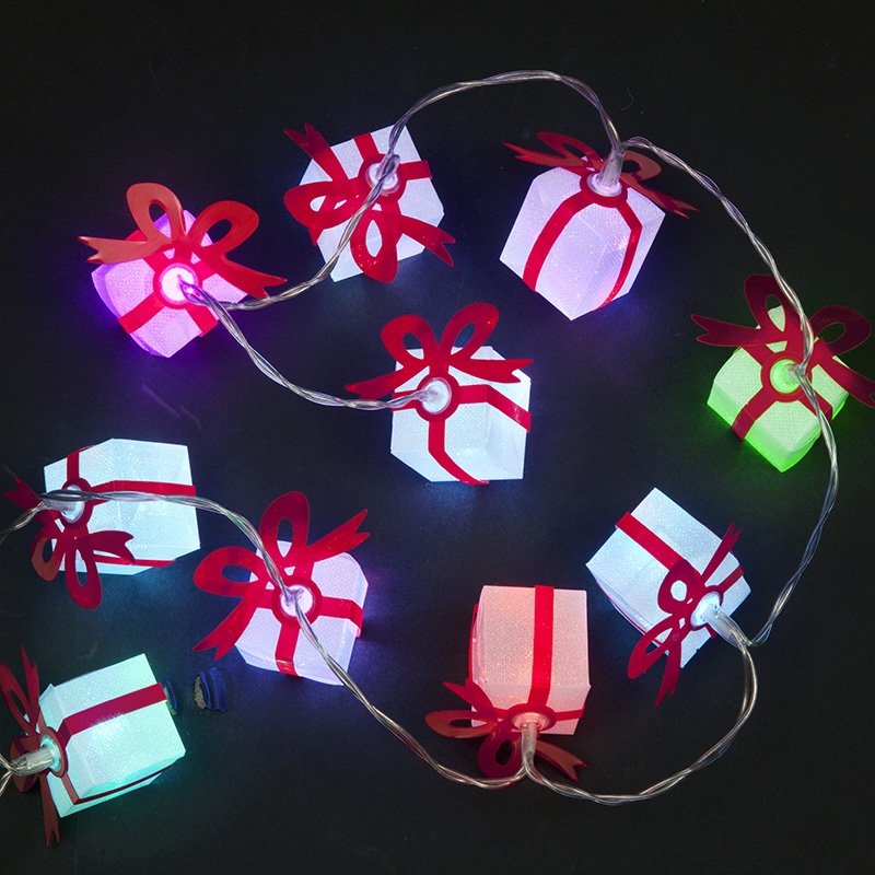 Click to view product details and reviews for 10 Battery Operated Colour Changing 10 Gift Box Lights.