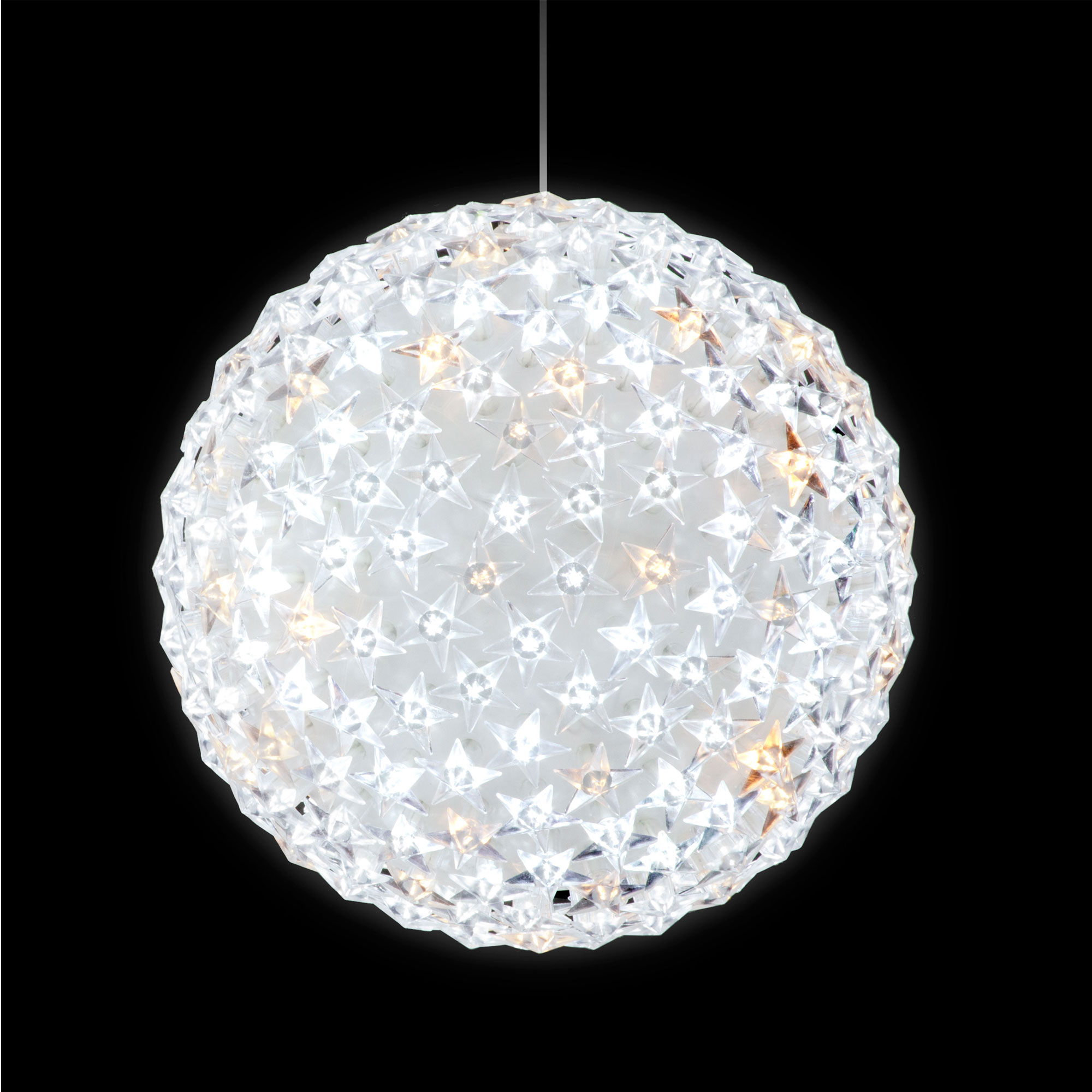 Christmas Decoration 20cm Diameter Starlight Ball With 160 IW LEDs & 40 Warm White Flash
