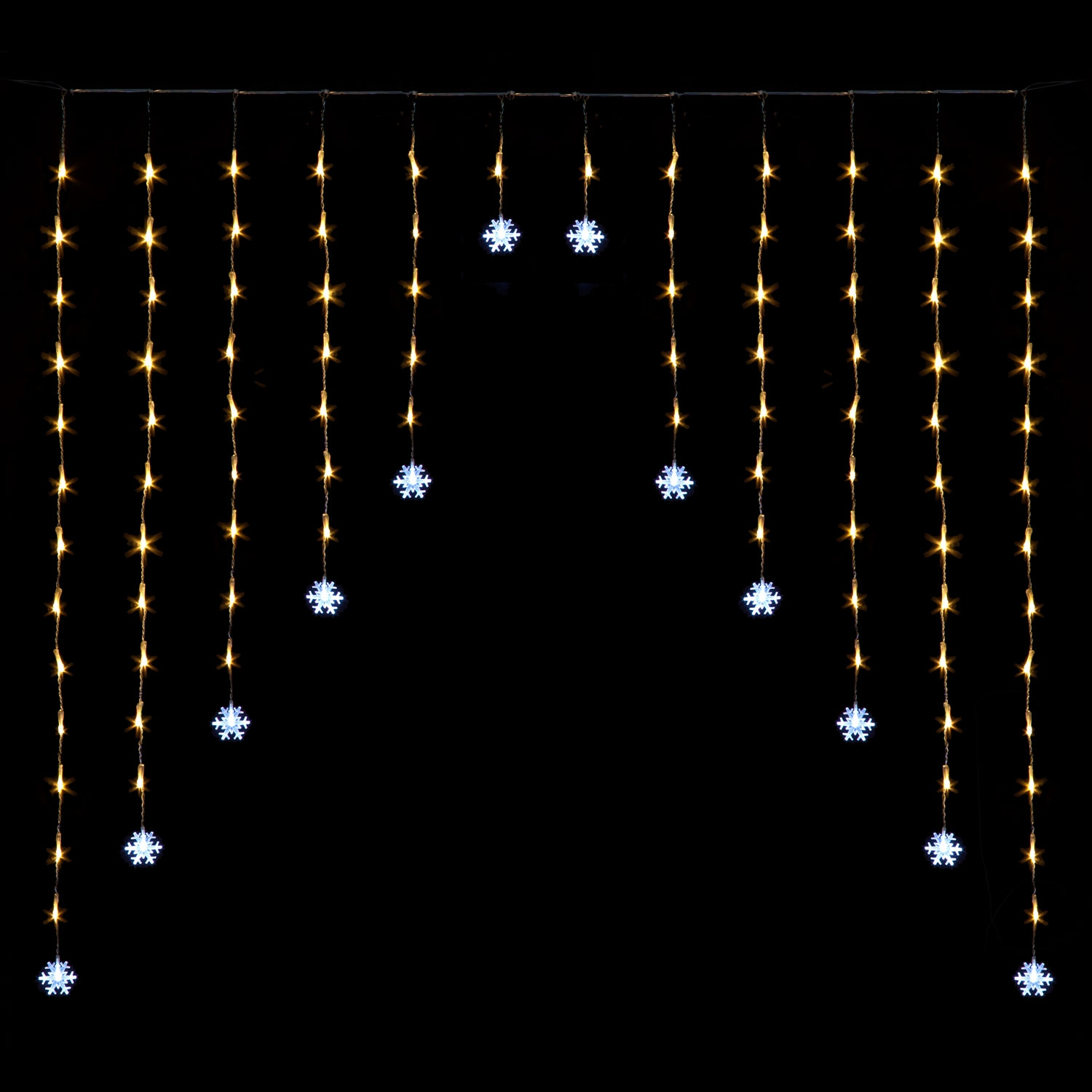Click to view product details and reviews for 11m Led Snowflake Light Curtain.