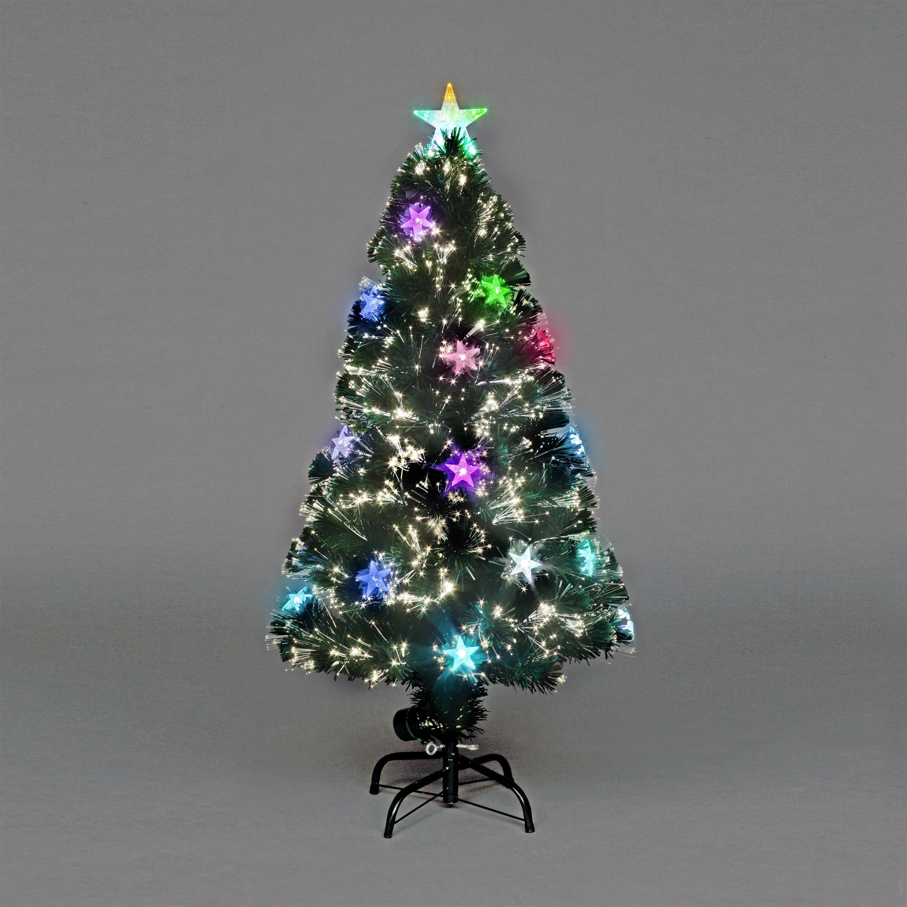 Fibre Optic Christmas Trees Sale: Christmas Tree 3ft 4ft 5ft 6ft Cosmos Fibre-Optic