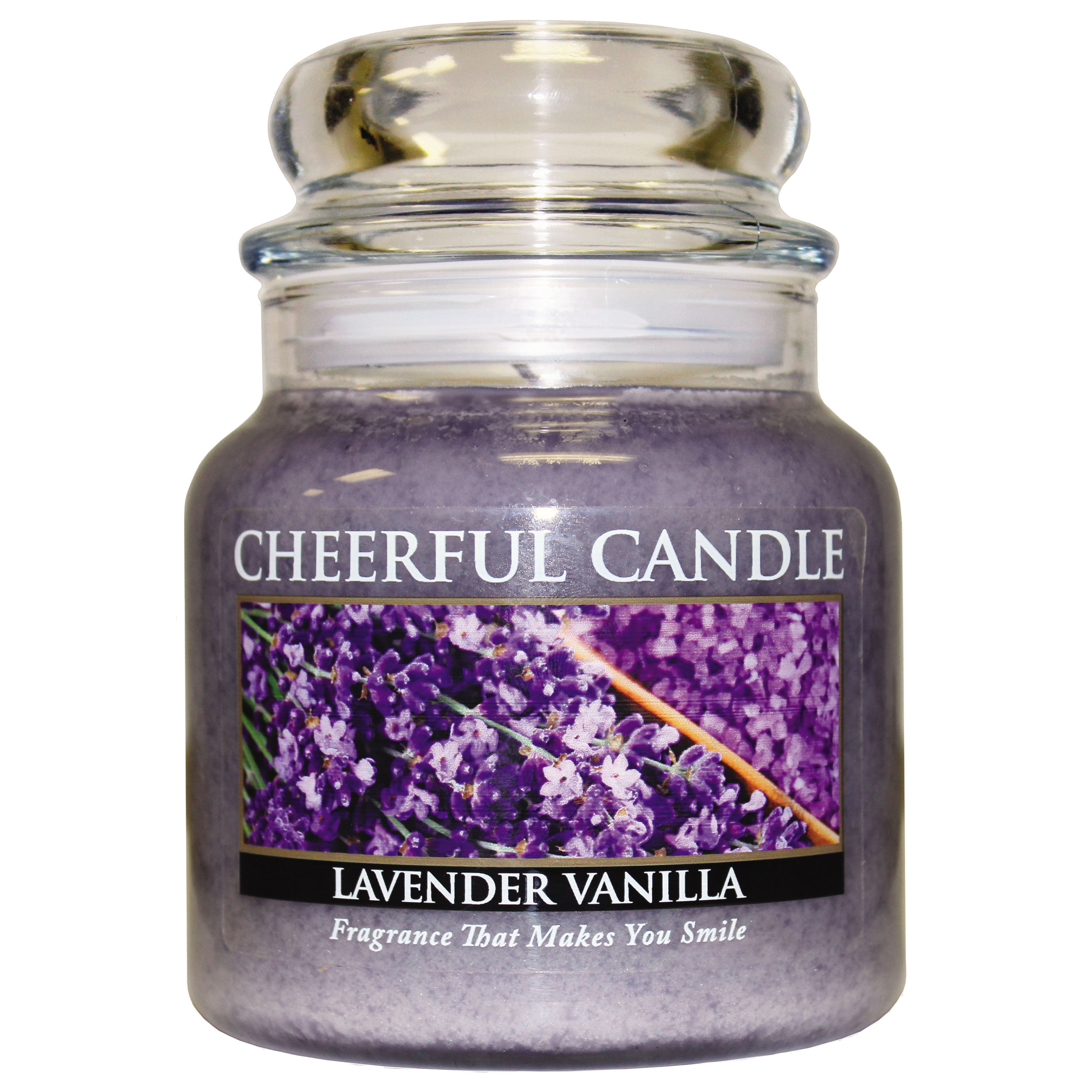 Christmas Trees and Lights Lavender Vanilla 16oz Cheerful Candle