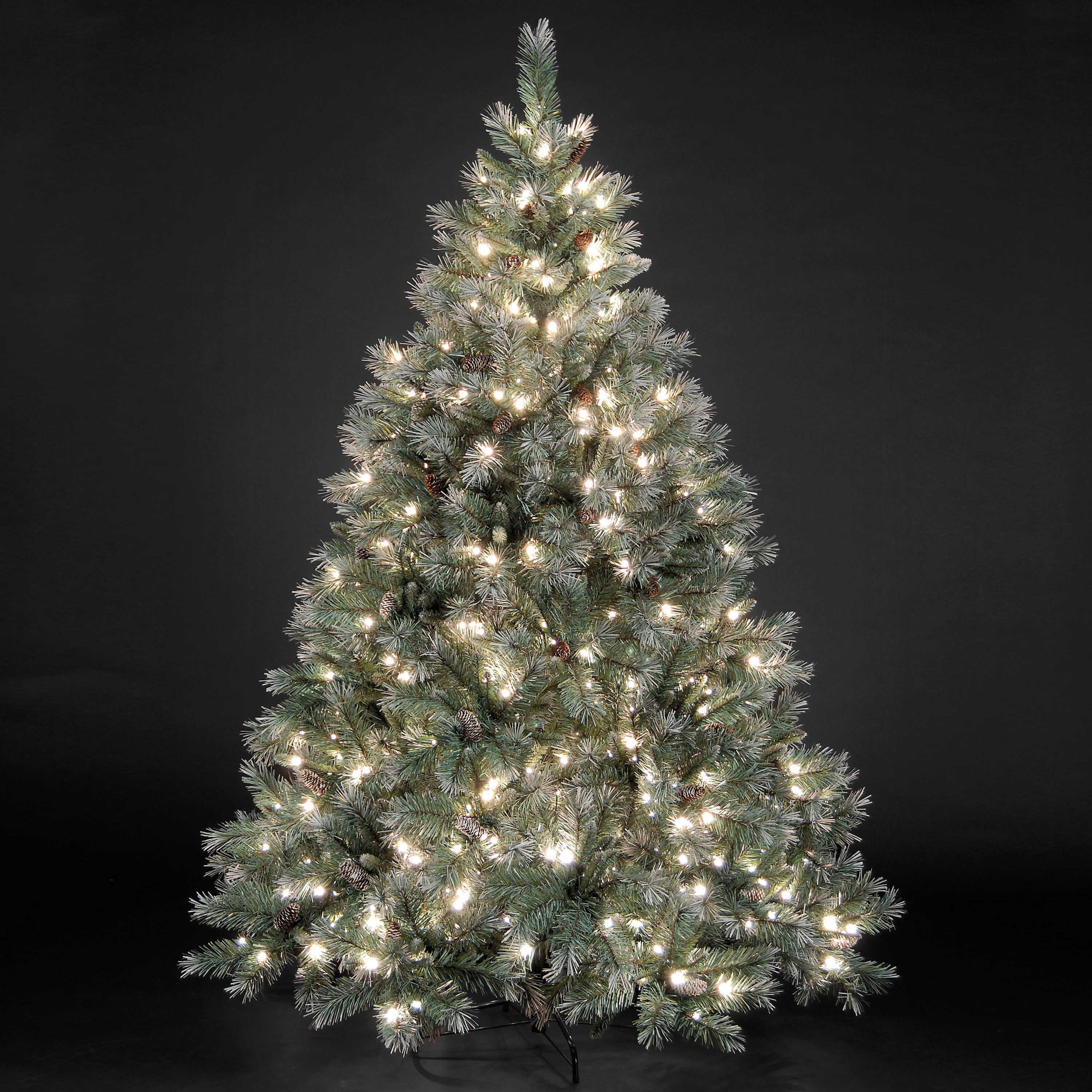 Frosted Emerald Pre Lit Fir Christmas Tree - Party Supplies ...