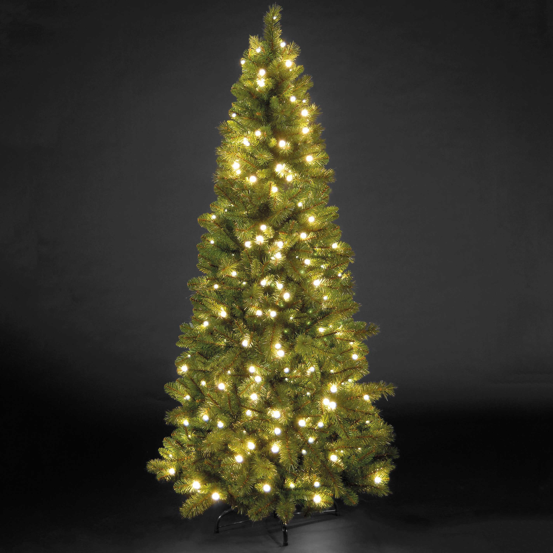 Christmas Trees and Lights 5ft Pre-Lit Manitoba Spruce Slim Tree