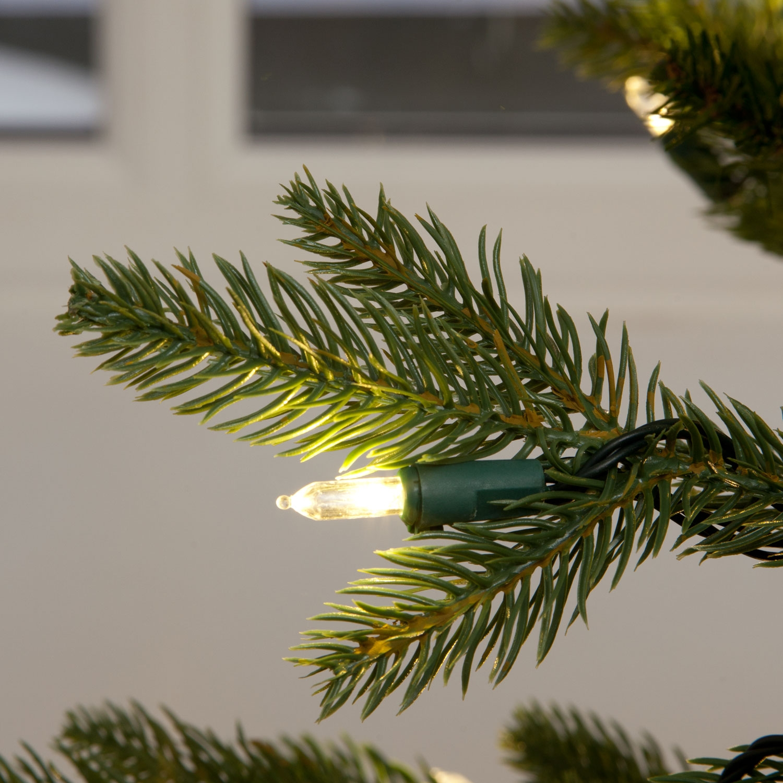 "Pe Christmas Trees Uk: Ashley Fir Luxury Premium ""QuickLight"" PE Christmas Tree"