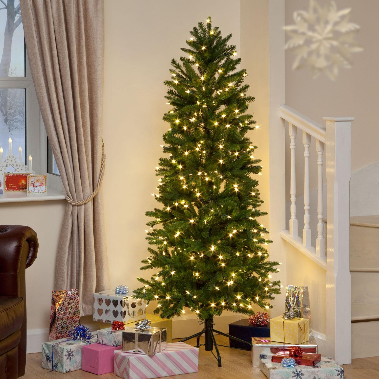 Aspen Slim Pine Luxury Premium Quicklight Pe Christmas Tree