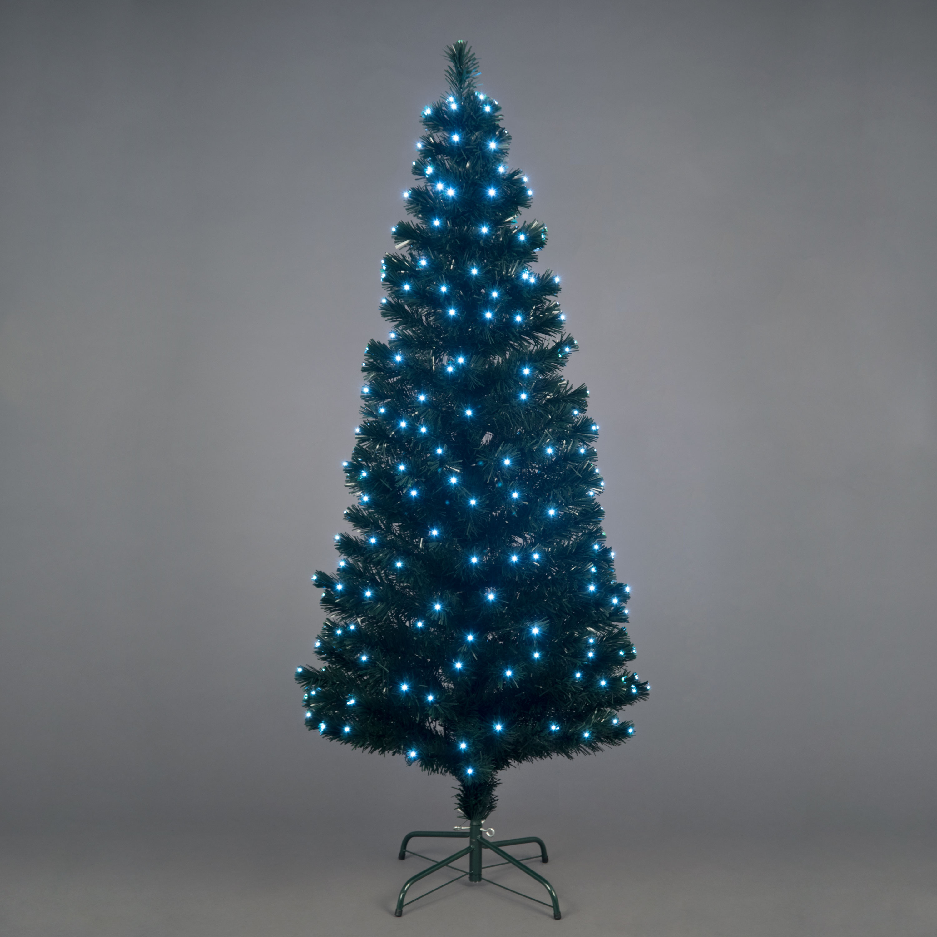 Christmas Trees and Lights 7ft Snowbright Multifunction Ice White LED Tree
