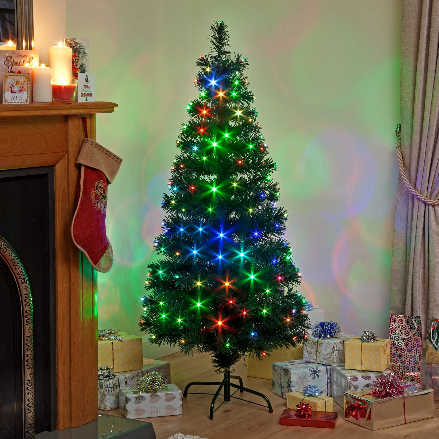Click to view product details and reviews for 120cm Snowbright Tree With 140 Colour Change Leds Slow Red Green Blue Outdoor.