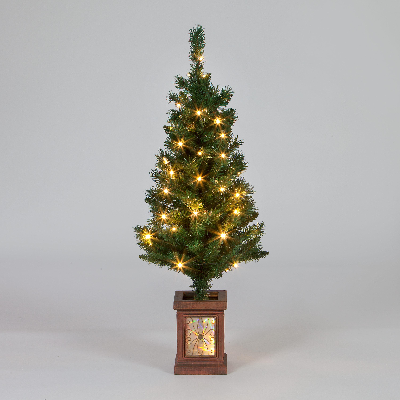 Multi Coloured Pre Lit Christmas Trees