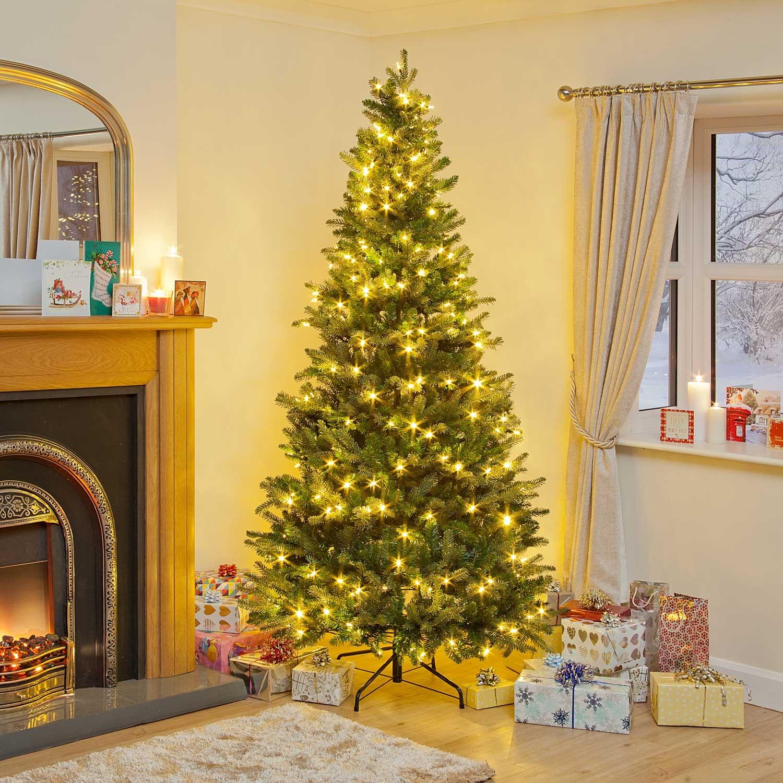 Pop Up Christmas Tree Video: 6ft Pre-Lit Latvian Pine PE LED Pop-Up Christmas Tree