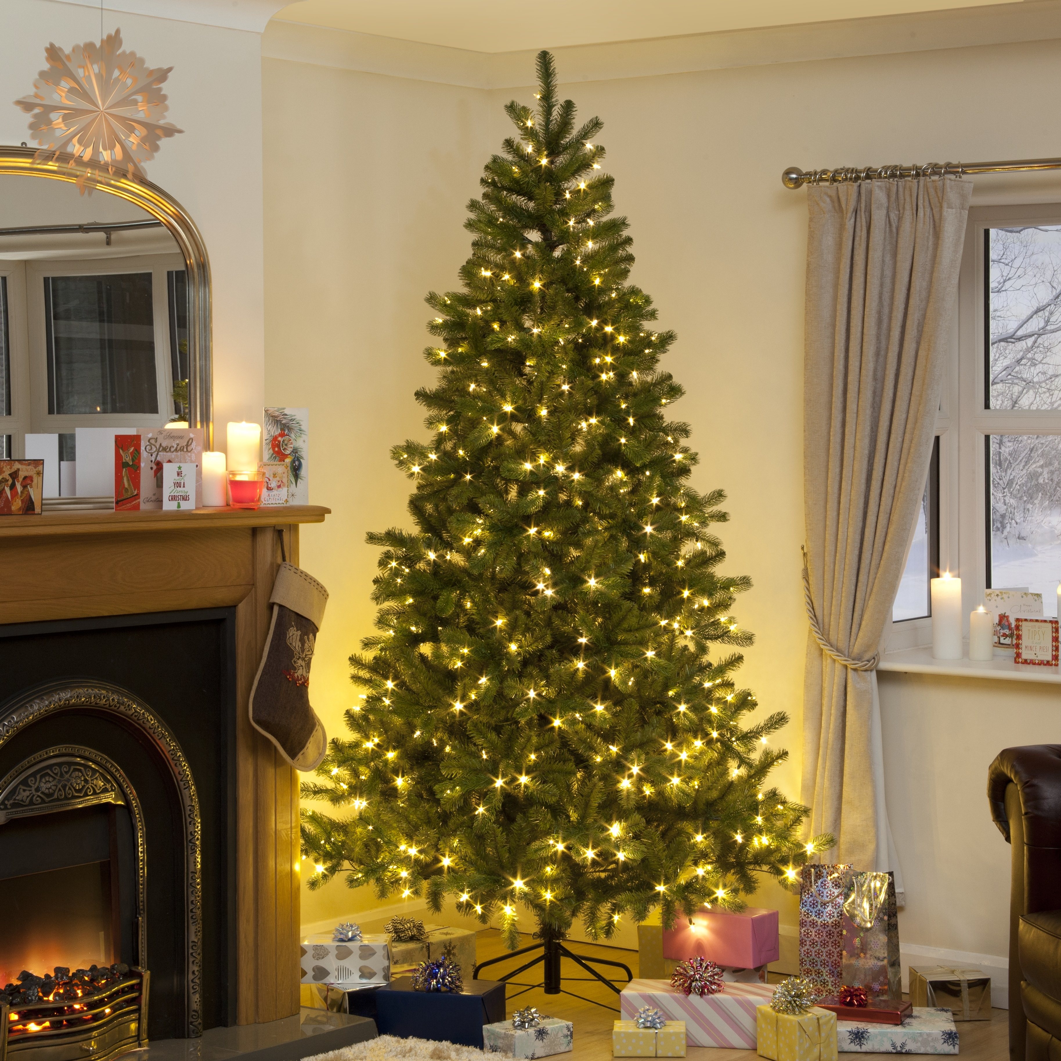 Click to view product details and reviews for 68ft Douglas Fir Pe Tree With 1162 Tips 127cm Diameter With 400 Leds.