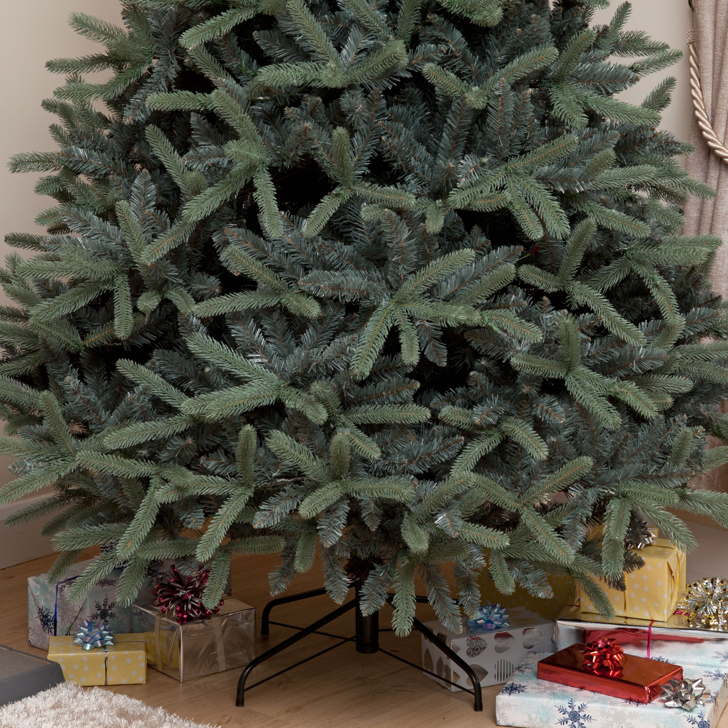Natural Needle PE Blue Spruce 5ft 6ft 7ft Christmas Tree ...