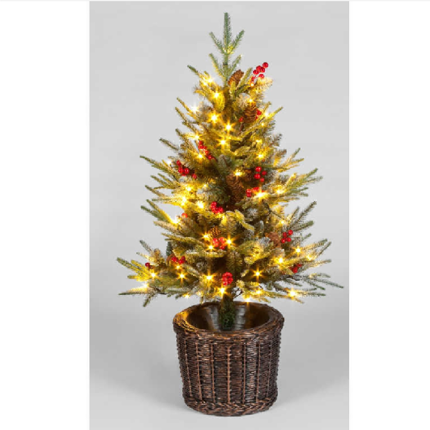 Click to view product details and reviews for 120cm Pre Lit Ontario Porch Pe Tree With 100 Leds With Basket.