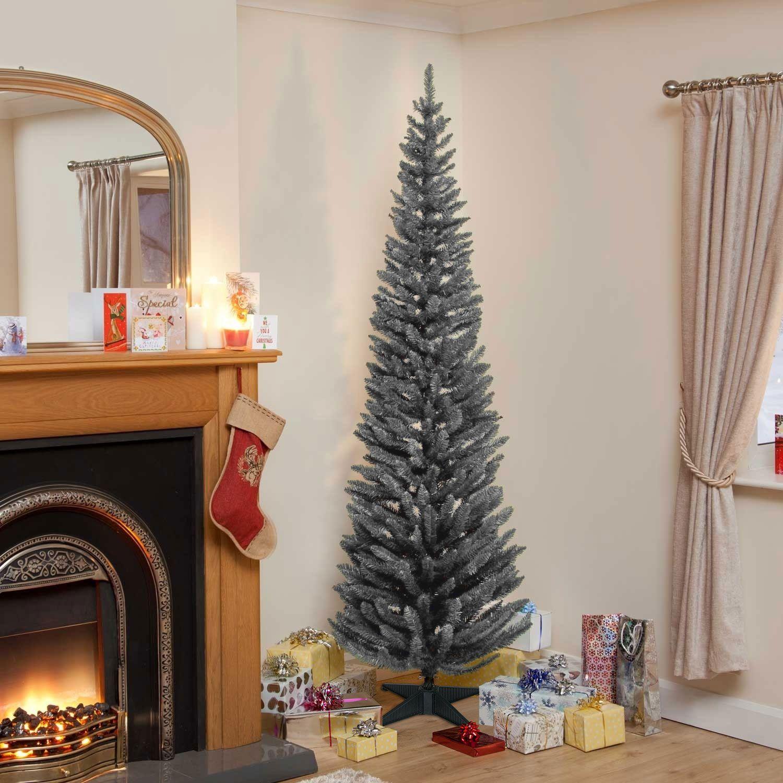 Grey Pencil Pine Artificial Christmas Tree Christmas Trees Lights