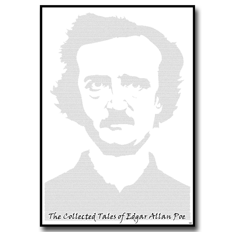 Christmas Trees and Lights Edgar Allan Poe Selected Tales Text Wall Print