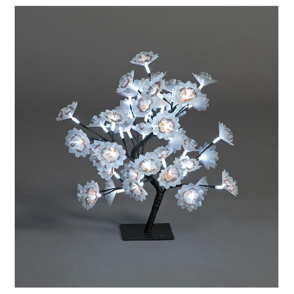 Fibre Optic Flower Christmas Tree with 48 Ice White LEDs
