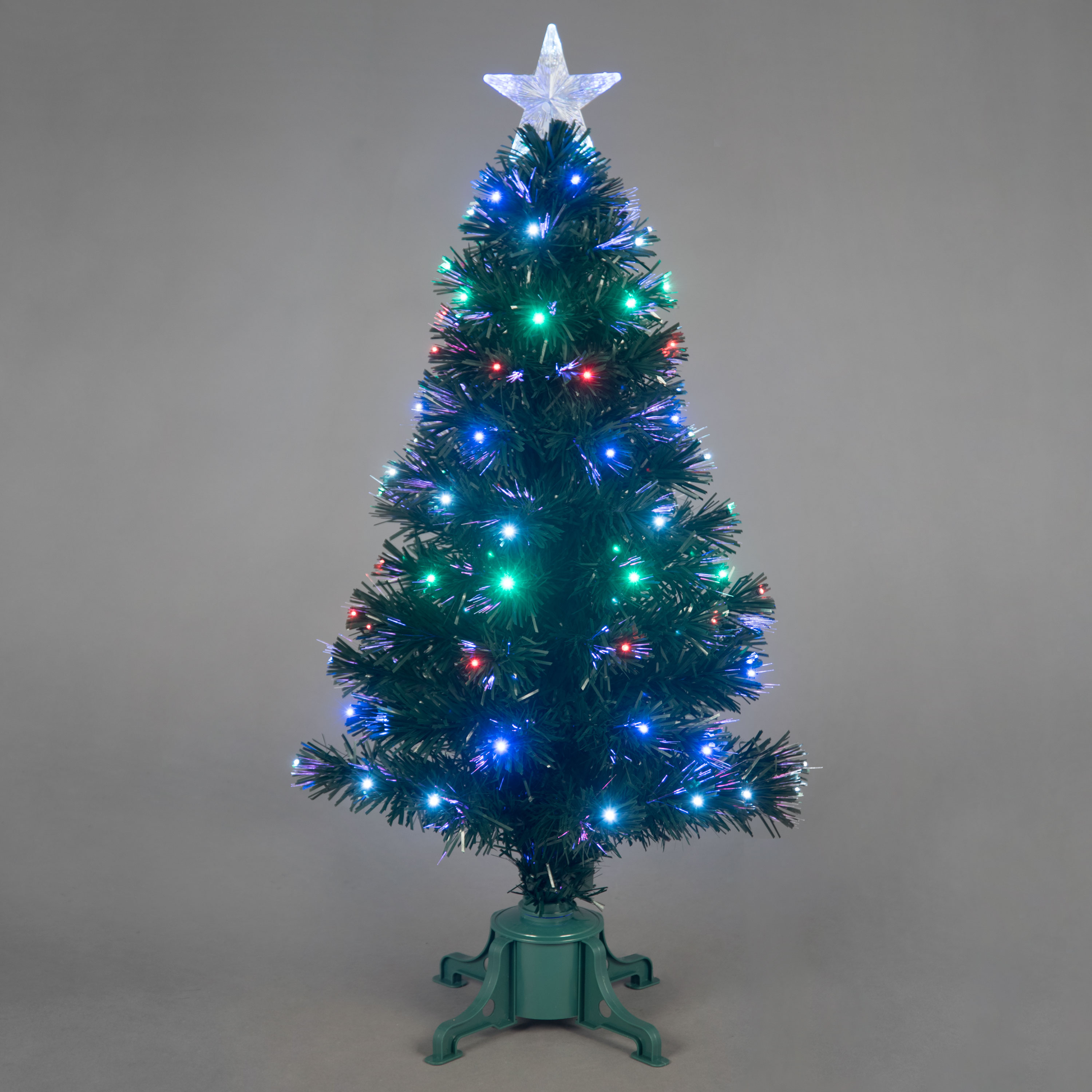 3ft Galaxy MultiColour Fibre Optic Christmas Tree with LEDs