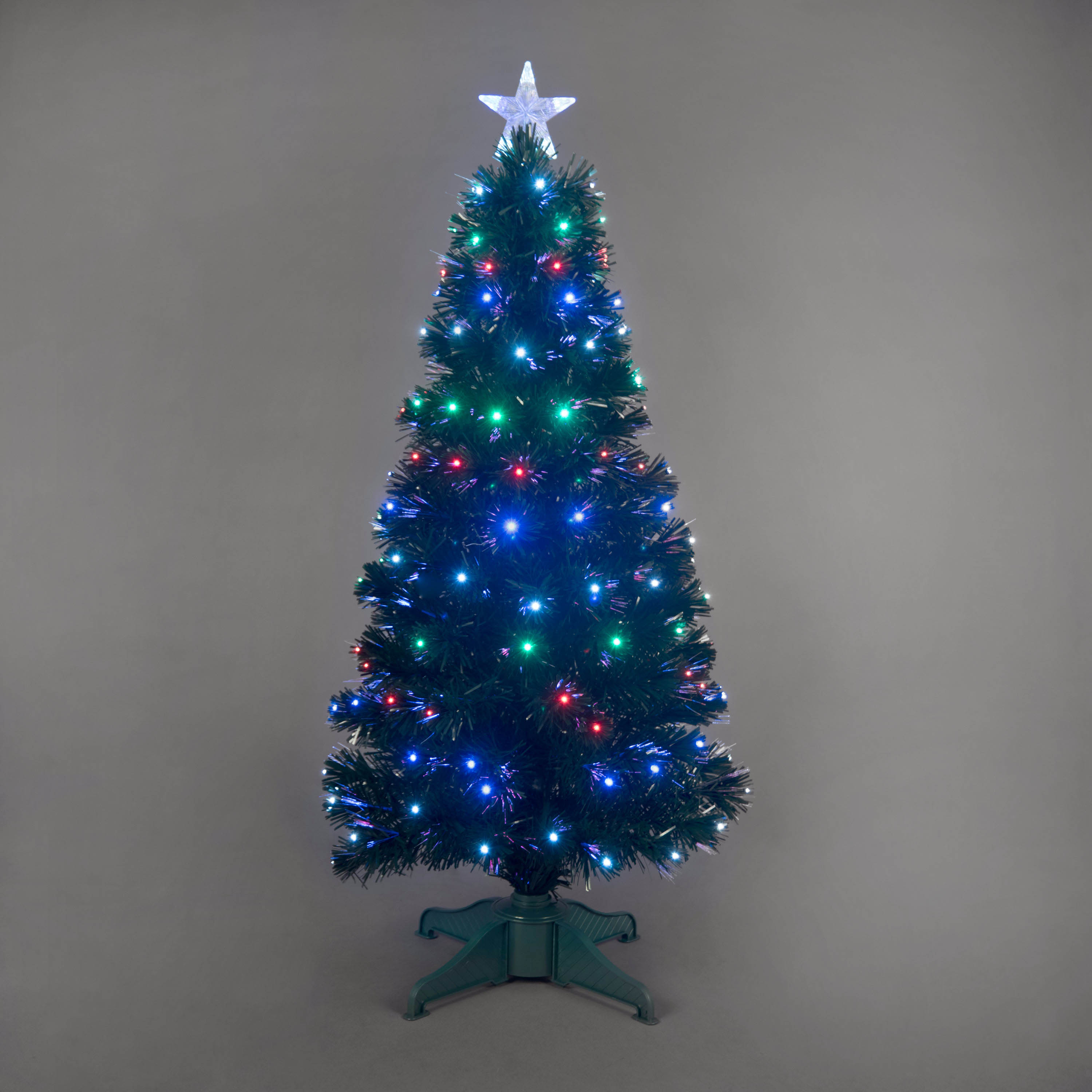 4ft Galaxy MultiColour Fibre Optic Christmas Tree with LEDs