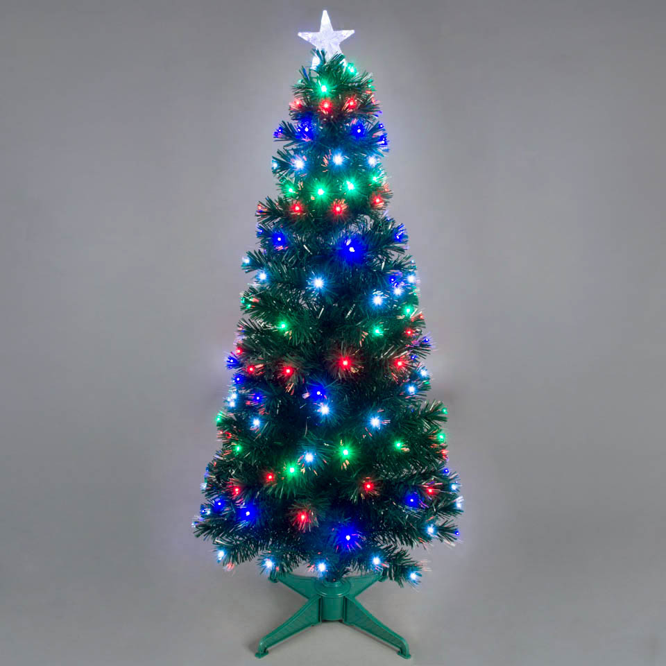 3ft  6ft Galaxy MultiColour Fibre Optic Christmas Tree with LEDs