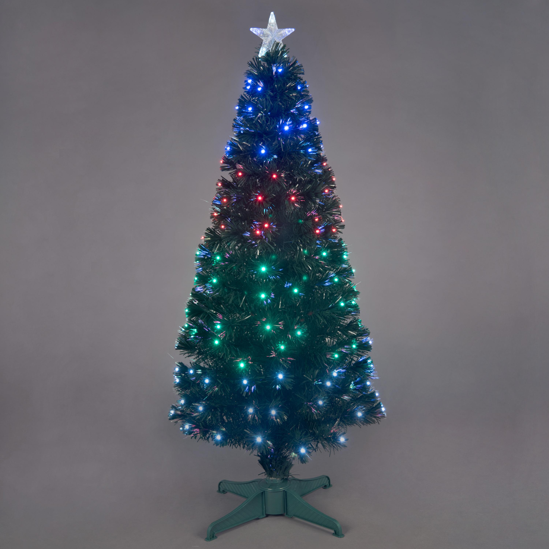 6ft Fantasia Green Fibre Optic Christmas Tree