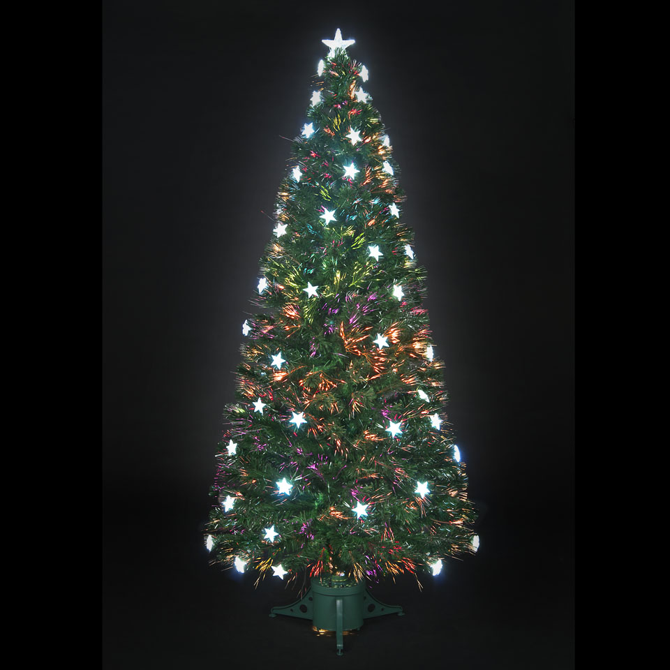150cm5ft Stargazer Fibre Optic Christmas Tree with 38 White LEDs