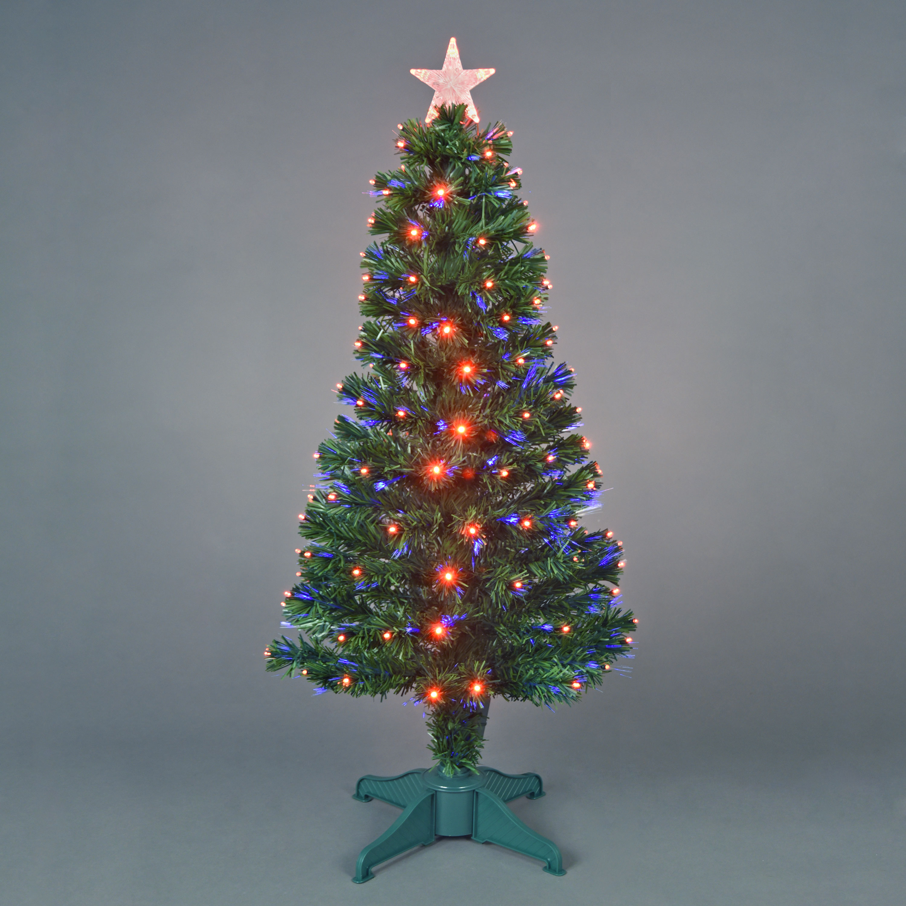 120cm4ft Red Saturn Fibre Optic Christmas Tree with 130 LEDs